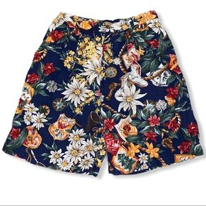 Ruff Hewn Floral Shorts w/Outdoor Theme Print